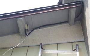 屋外のLAN配線工事